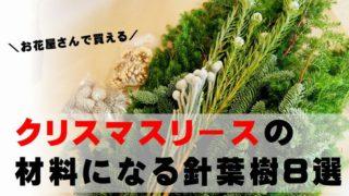 フレッシュクリスマスリース 材料